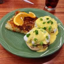 Kodiak Eggs Benedict at Snow City Cafe