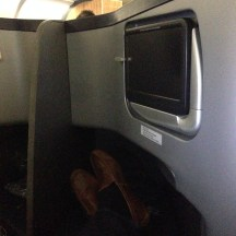 View from my seat - plenty of room