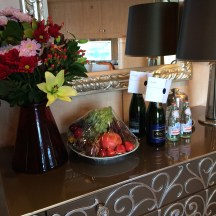 More fruit and champagne