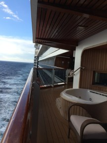 Entire verandah at sea