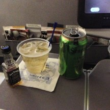 My inflight meal: Jack 'n Ginger