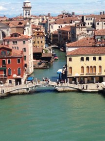 Canals of Venice from the ship