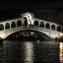Rialto at night time