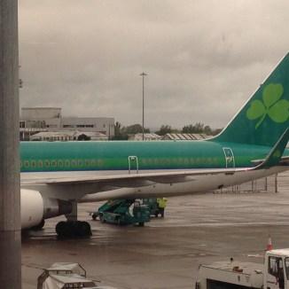 Aer Lingus B757-200 ready for the flight SNN-BOS