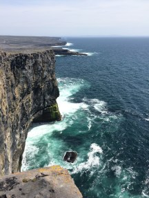 The cliffs at Dun Aonghasa