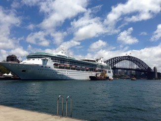 Rhapsody of the Seas in Sydney Harbour