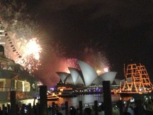 Tons of fireworks by Opera House