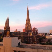 View from our room at the Park Hyatt Melbourne