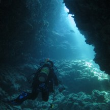 Underwater caves!