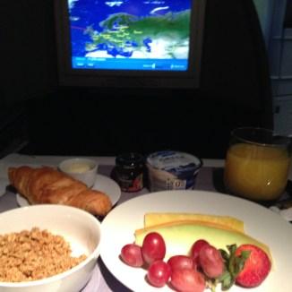 Enjoying Breakfast over London