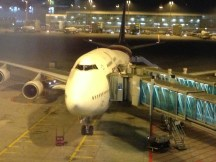 Our B747-400 at the gate in MUC!