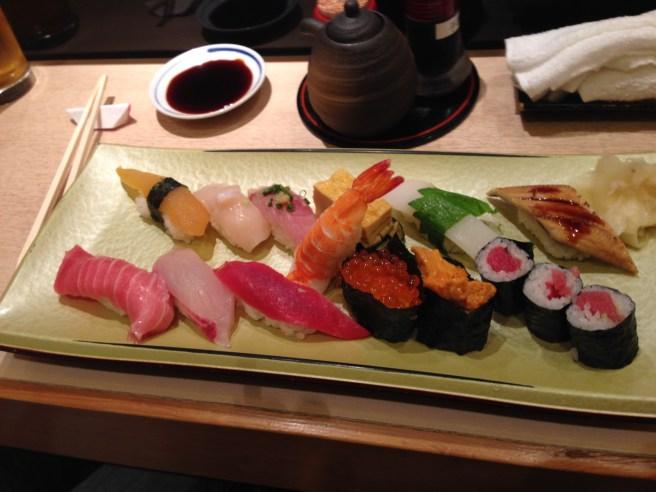 Amazing Sushi at Sushi Zanmai in Shinjuku