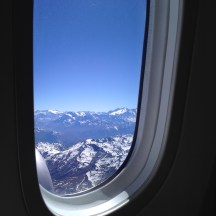 The Andes from the HUGE windows of the Dreamliner