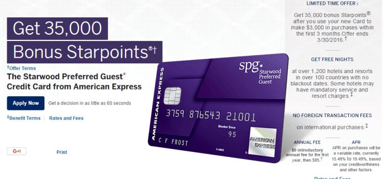 spg amex highest sign-up bonus offer