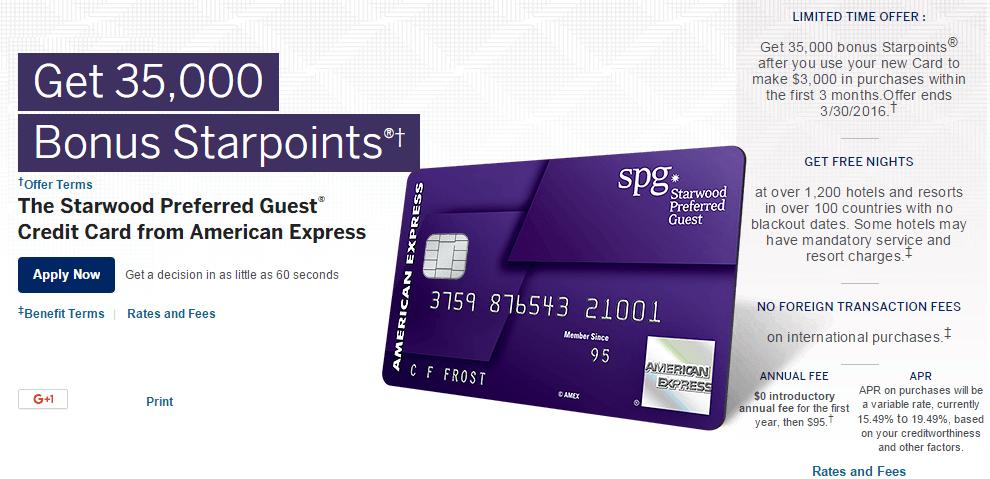 spg amex highest bonus offer