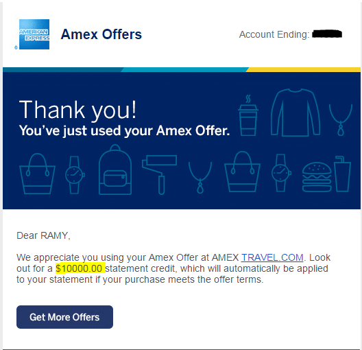 earn 10000 amex points with amextravel