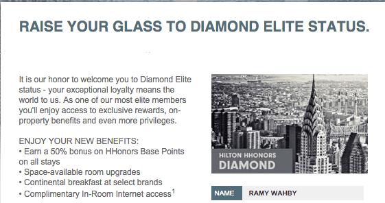 free hilton hhonors diamond status match3