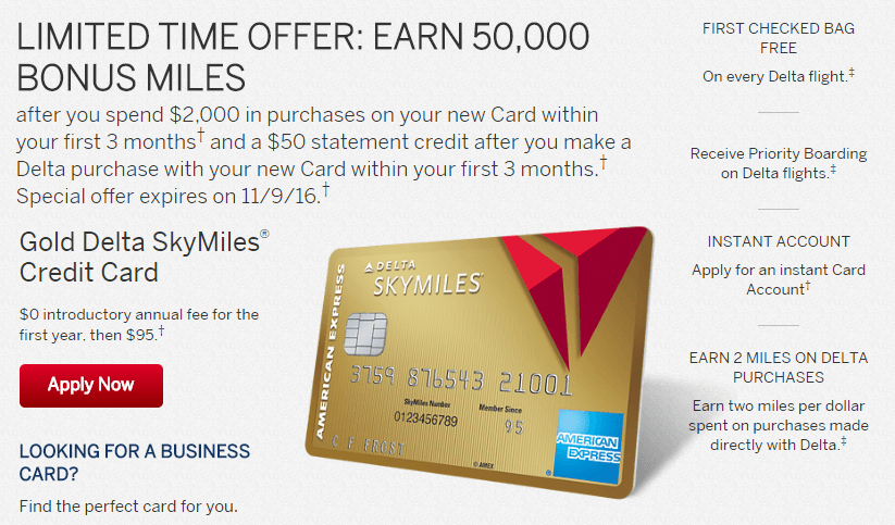 bonus offer on the gold and platinum delta credit cards