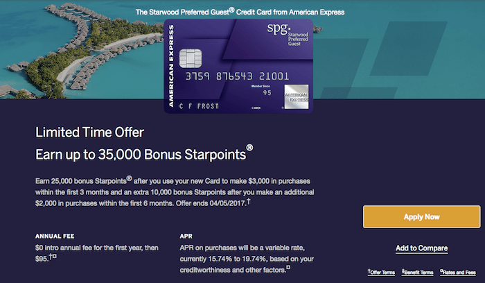 starwood amex is offering 35000 bonus starpoints