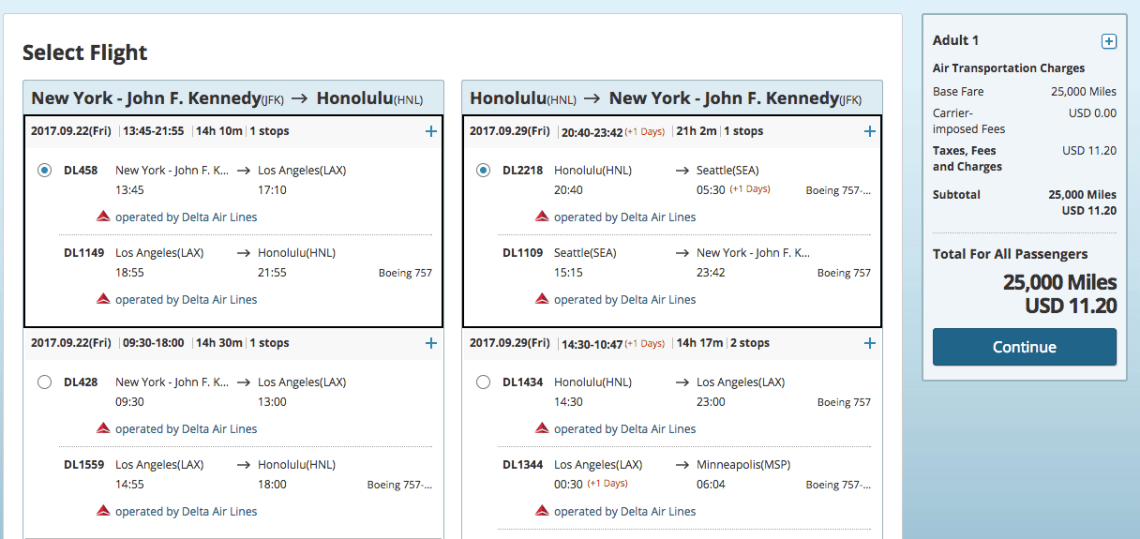 cheapest way to book hawaii with points