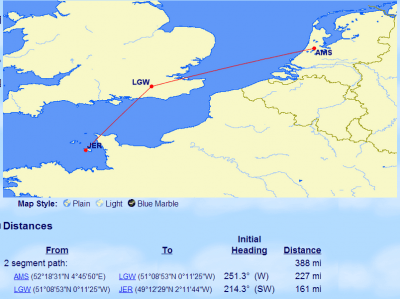 AMS-LGW-JER on GC Map