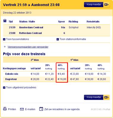 NS Amsterdam to Rotterdam