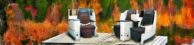 KLM Business class seats