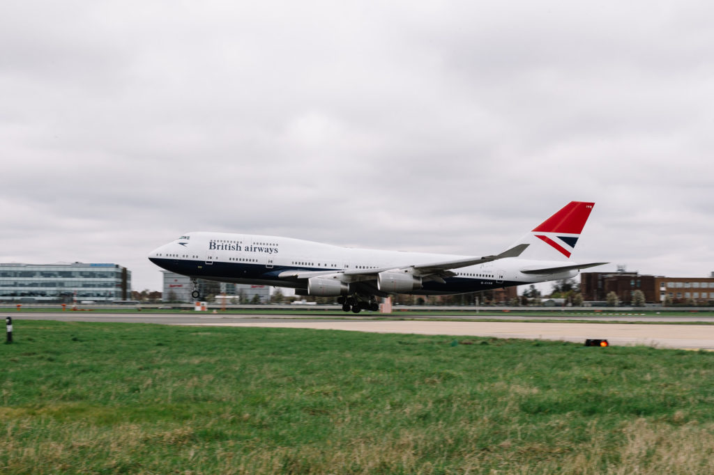 British Airways G-CIVB Boeing 747 with Negus Retro Livery