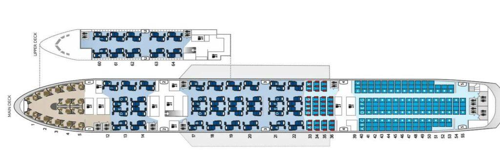 B747 Super Hi J seat map