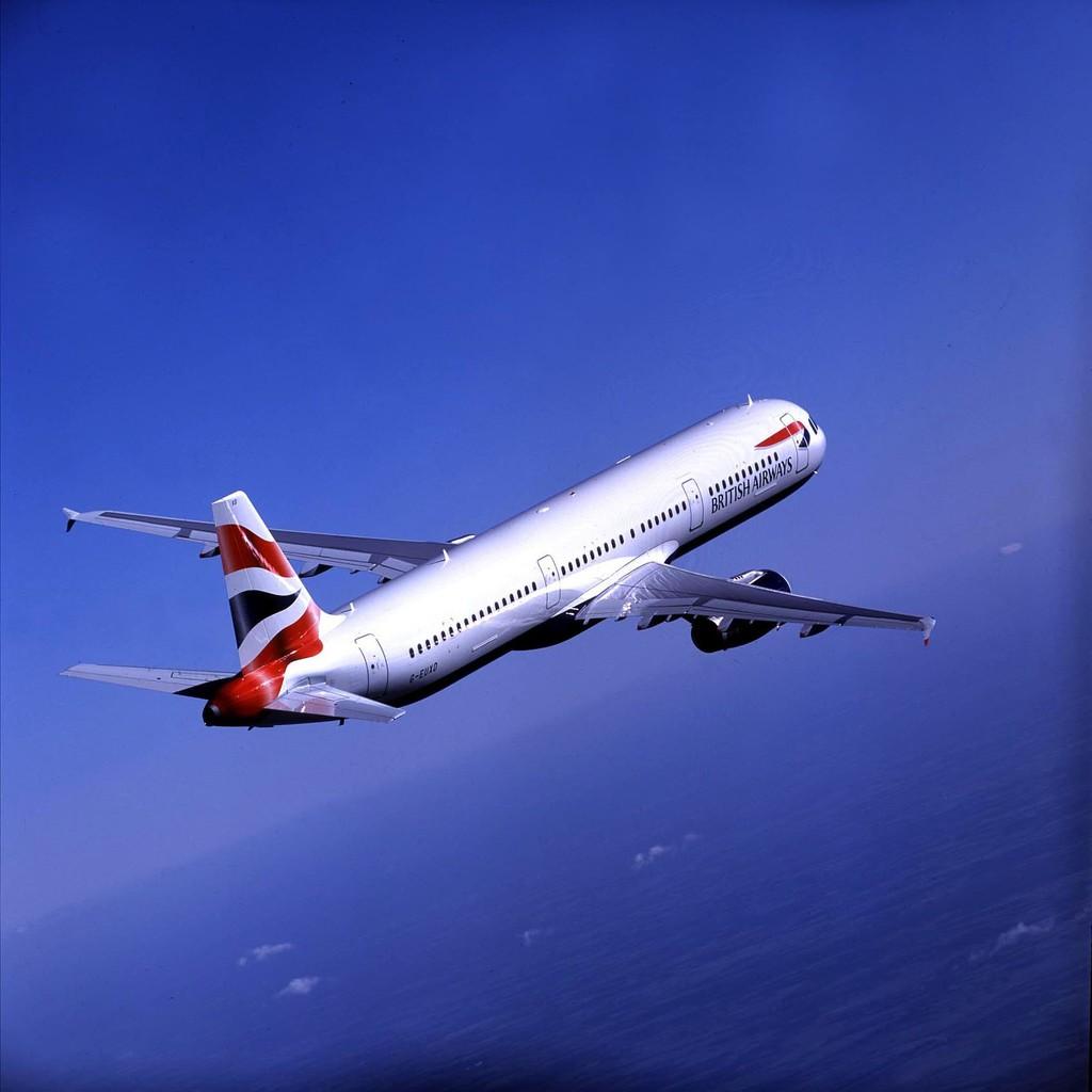 British Airways A321 in flight G-EUXD