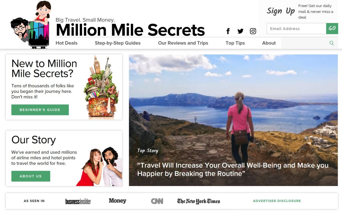 Points Travelers Featured on Million Mile Secrets!