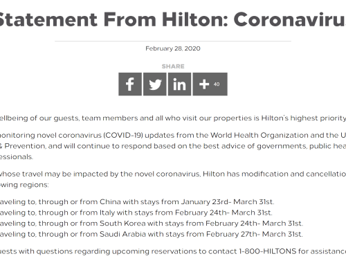 Hilton Coronavirus Cancellation Policy