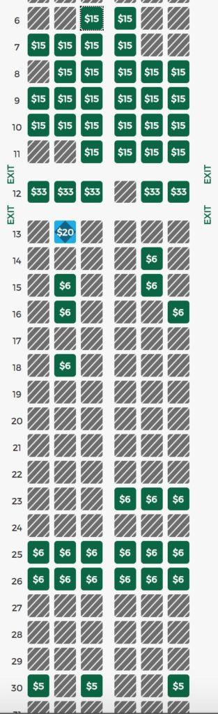Frontier Seat Chart : frontier, chart, Frontier, Free), Points