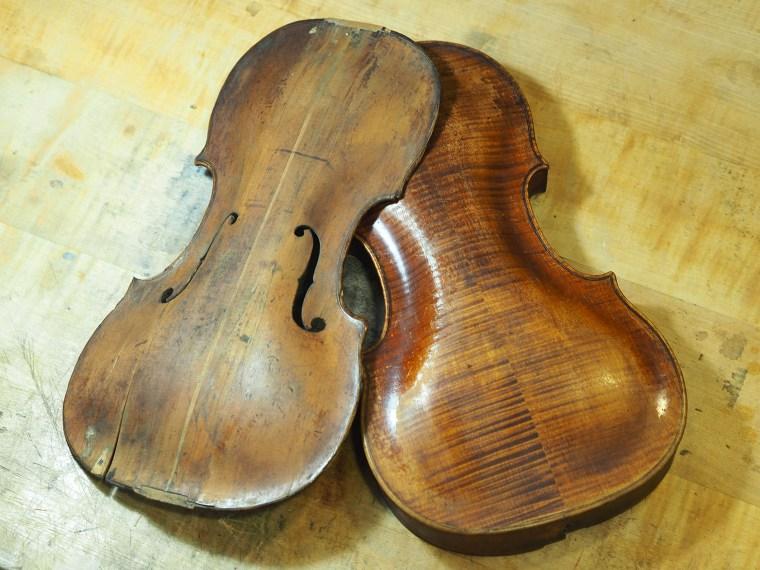 violon à restaurer