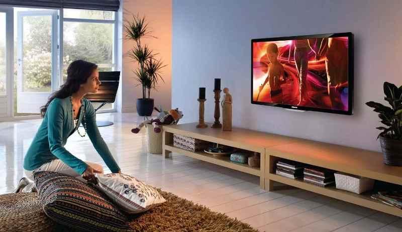 размеры телевизора должны соответствовать размеру комнаты