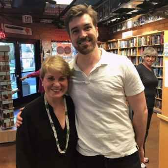 Barbara with A.J. Finn