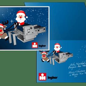 Postales de Navidad para Inghor, diseño gráfico en Bilbao
