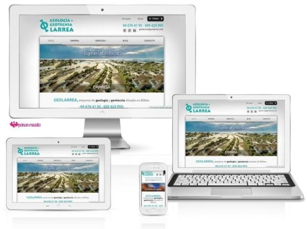 Página web Geología y Geotecnia Larrea