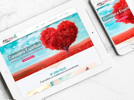 Diseño de página web para María Luisa Tello por Poison Estudio