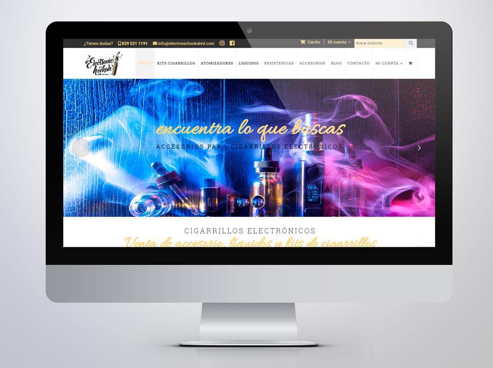 Diseño de página web para electronichoockah por Poison Estudio