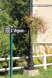 Argentor river sign