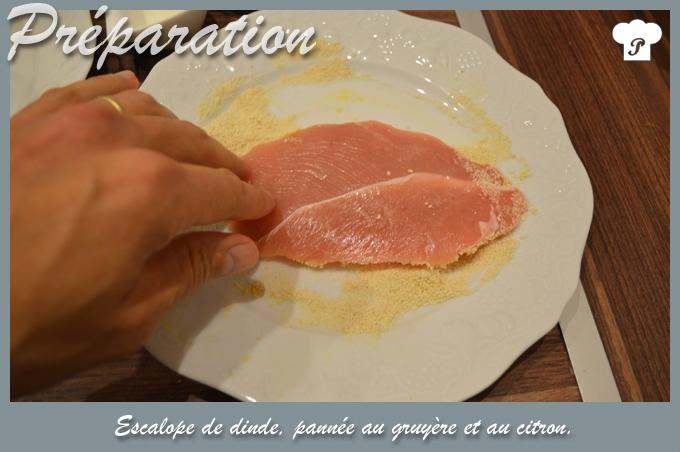 PREPARATION_2_Escalope de dinde pannée au gruyère et au citron