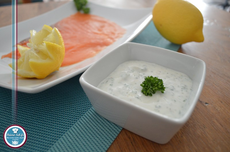 Sauce au fromage blanc citronné et persillé