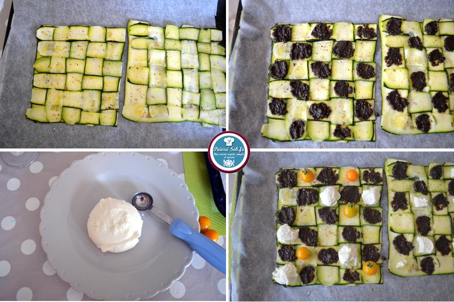 Damier de courgette_tapenade et mozzarella_préparation3