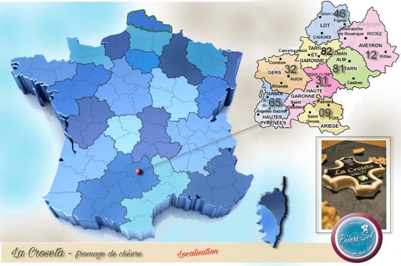 Localisation La Croseta_CARTE_FRANCE_FROMAGE copie