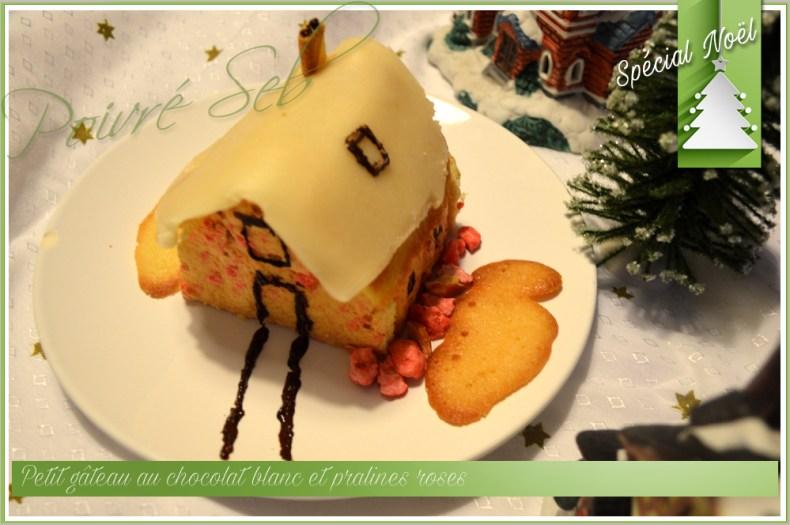 Petit gâteau au chocolat blanc et pralines roses_2