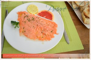 Saumon cru cuit à la marinade de pomelo_principal