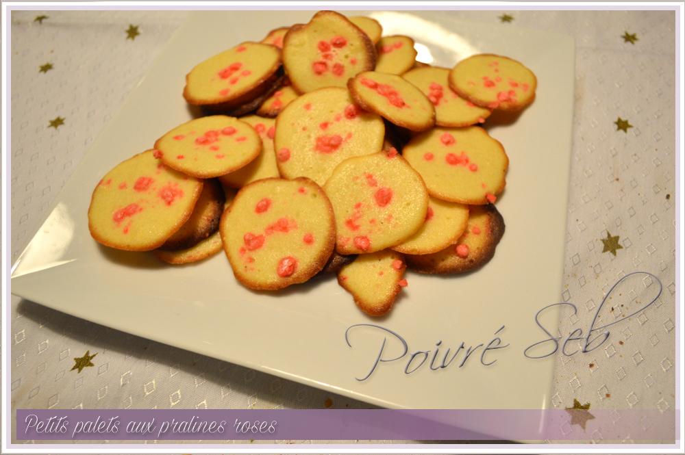 Petits palets aux pralines roses 2