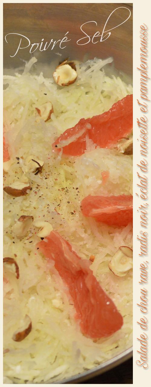 Salade chou rave et radis noir pamplemousse