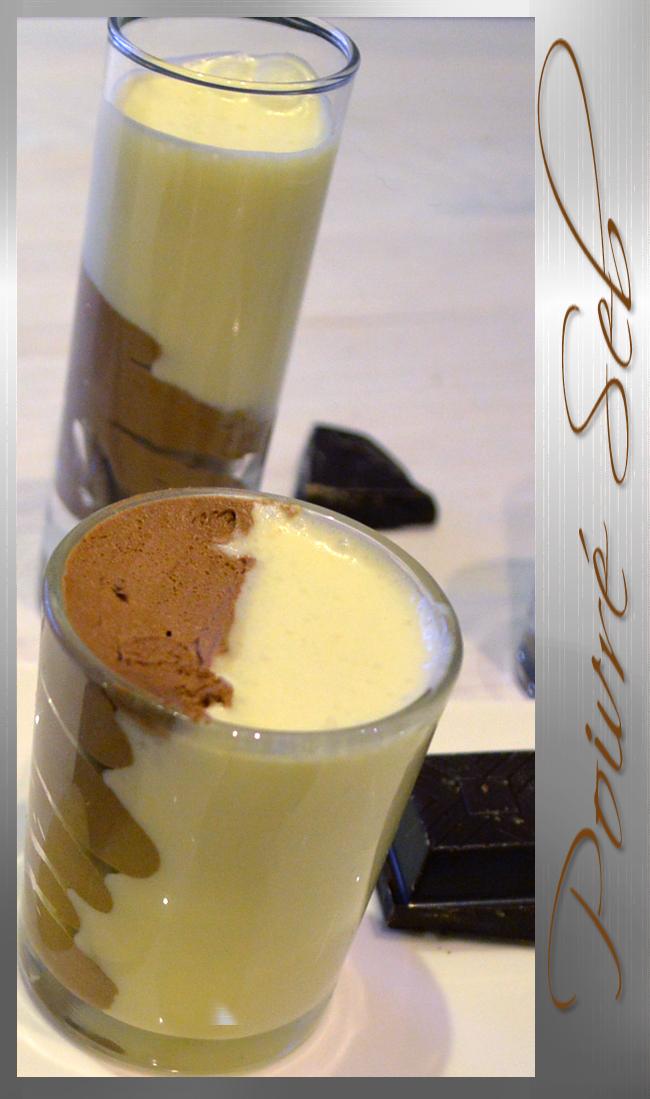 Mousse au chocolat noir et blanc Cyril Lignac Verticale